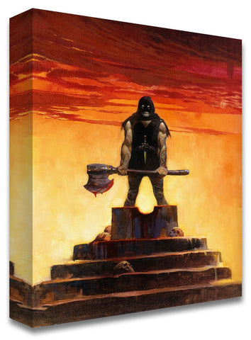 Frazetta Girls, LLC  Art Print Fine art print / Stretched on wooden bar / 18X24 The Executioner Print