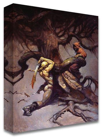Frazetta Girls, LLC  Art Print Fine art print / Stretched on wooden bar / 18x24 Tree of Death Print