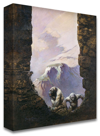 Frazetta Girls, LLC Art Print Fine art print / Stretched on wooden bar / 18x24 Two White Gorillas Print
