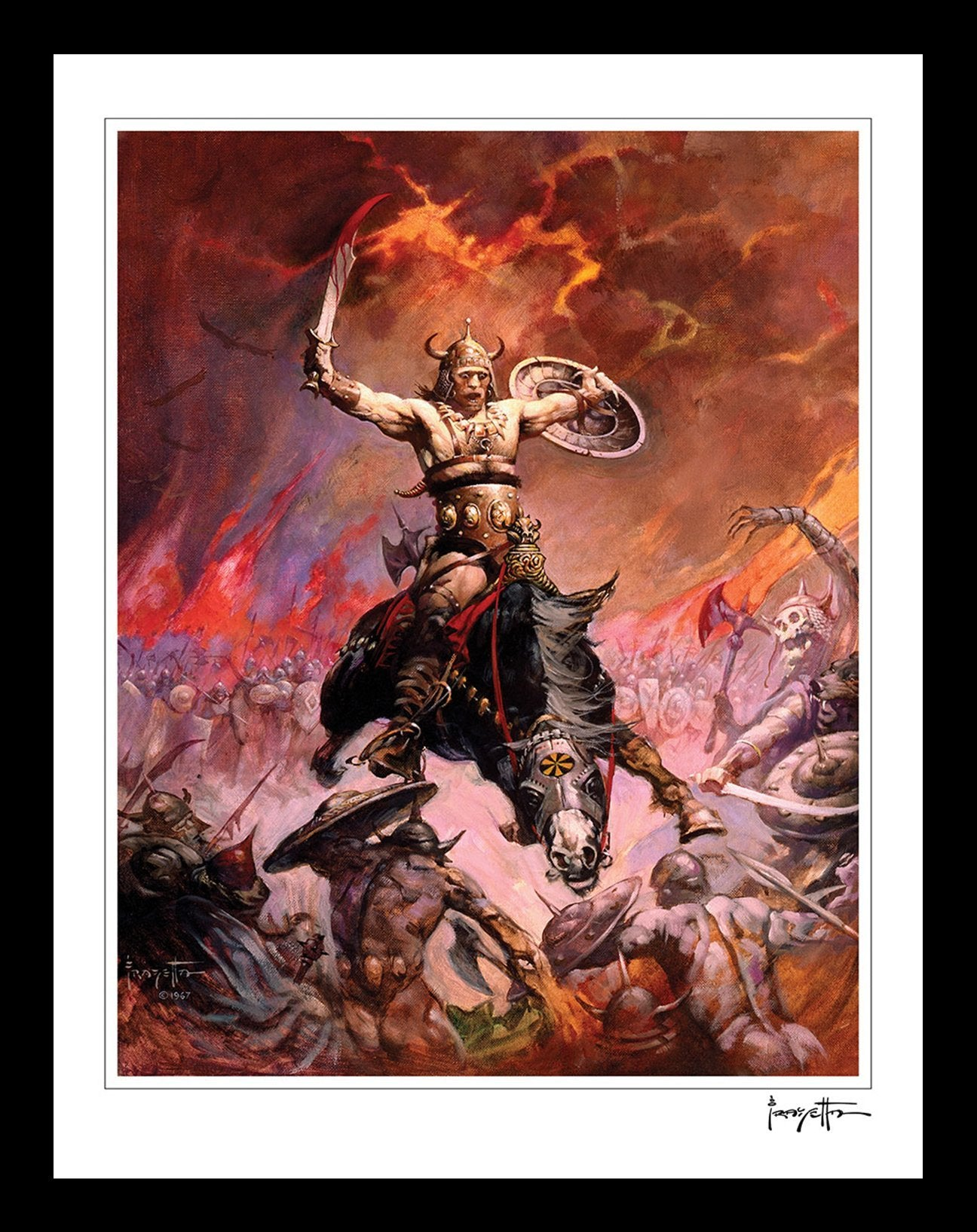 Frazetta Girls, LLC  Art Print Conan The Conqueror Print