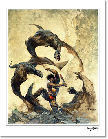 Frazetta Girls, LLC Art Print Fine art print / Semi-matte photo print / 16x20 Winged Terror Print