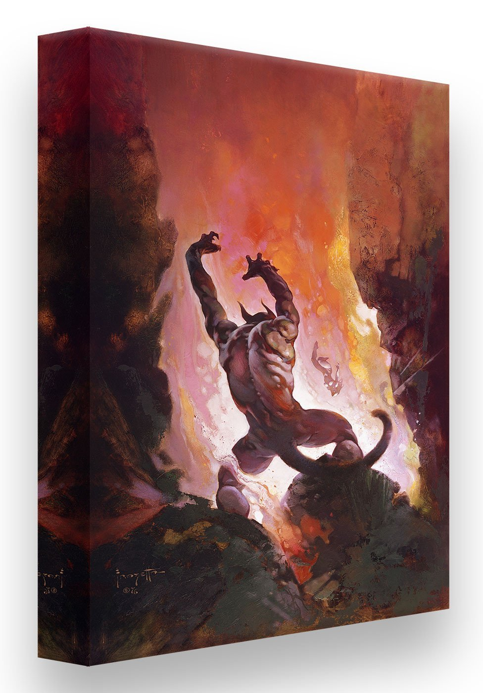 FrazettaGirls Art Print Canvas / Rolled / 18x24 Fire Demon Print