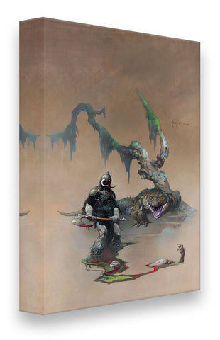FrazettaGirls Art Print Fine art print / Stretched on wooden bar / 18x24 Death Dealer IV Print