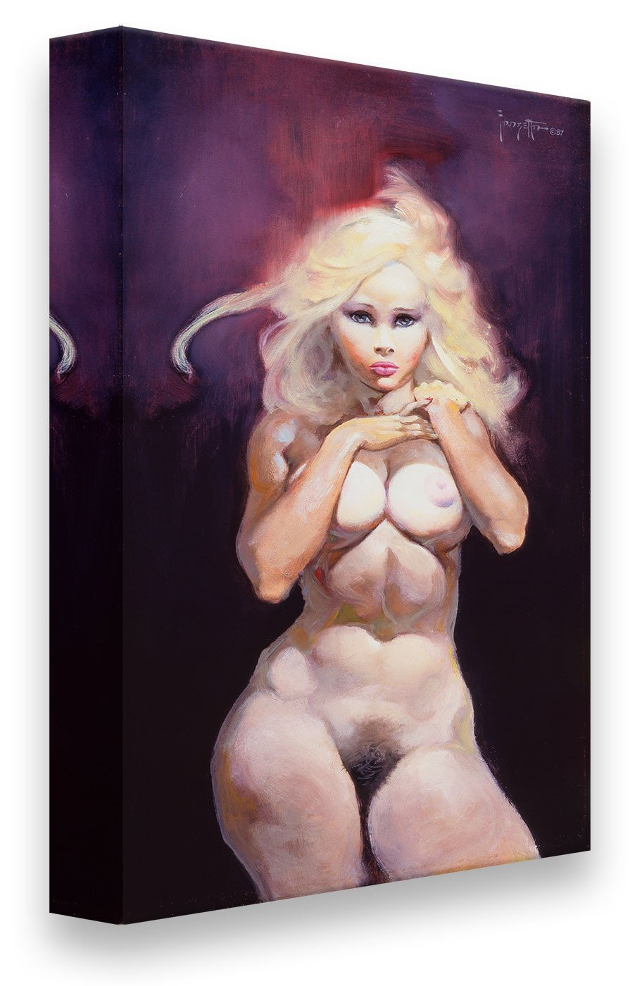 FrazettaGirls Art Print Canvas / Stretched on wooden bar / 18x24 Nude Print
