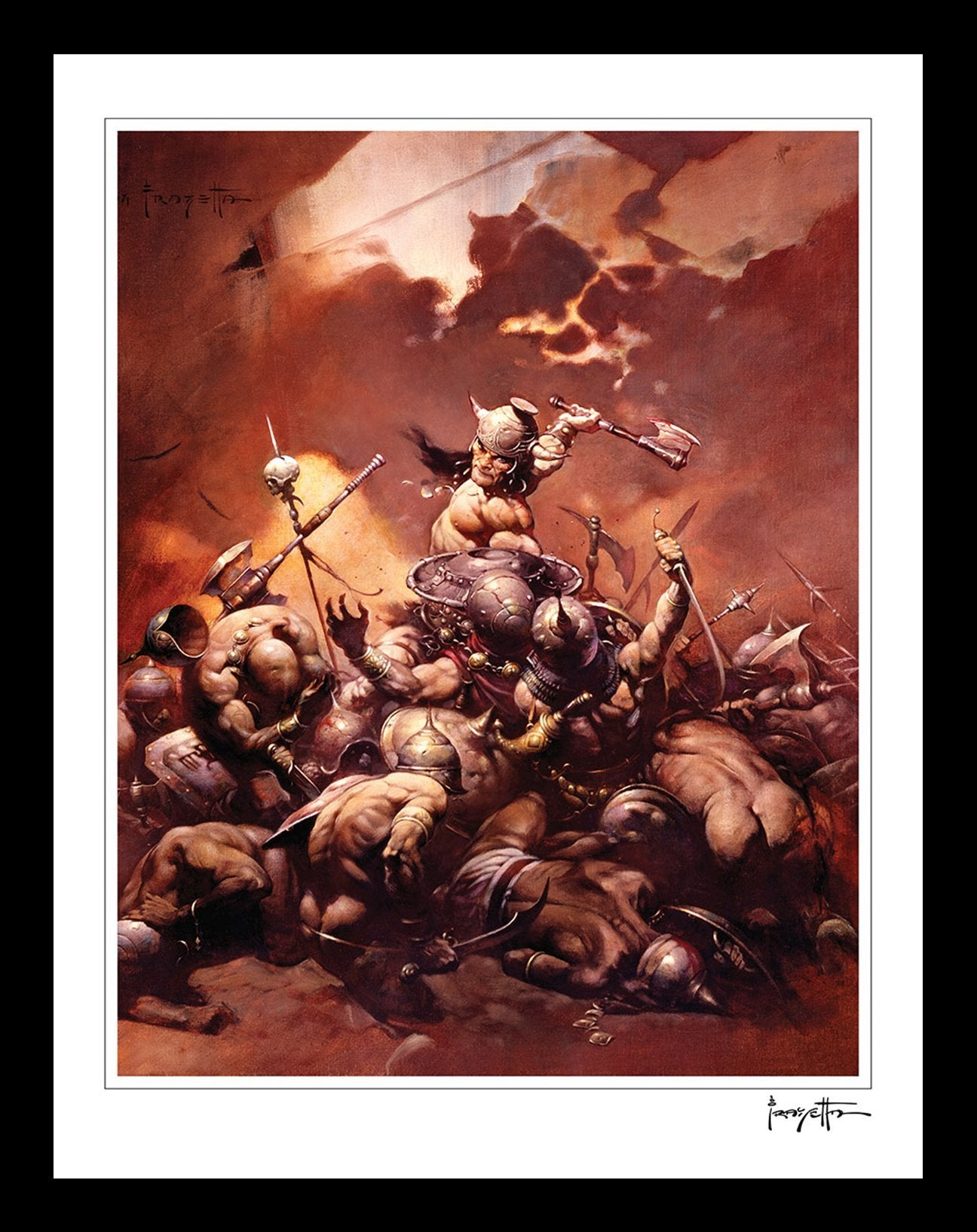 FrazettaGirls Art Print Conan The Destroyer Print