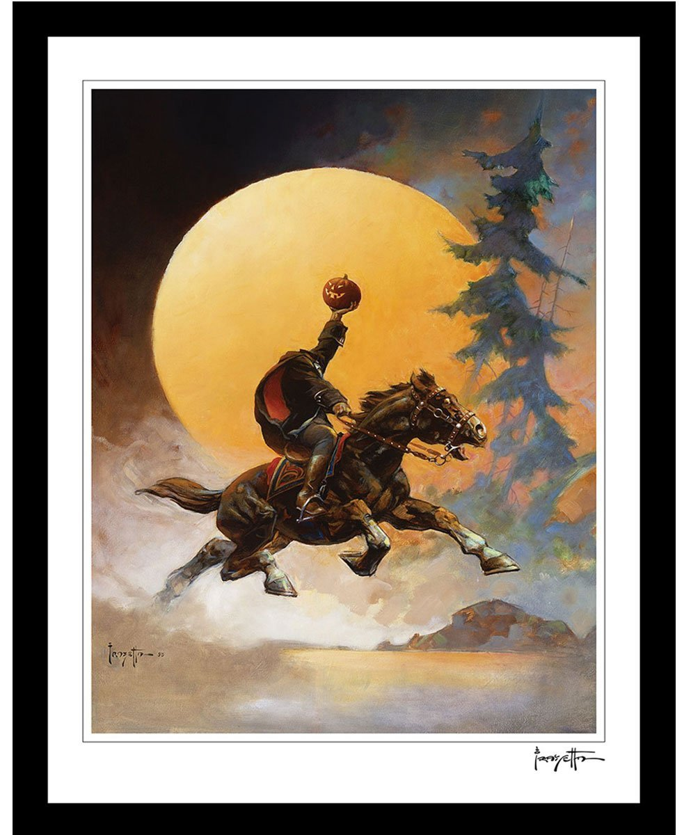 FrazettaGirls Art Print Framed print / Stretched on wooden bar / 16x20 Headless Horseman Print