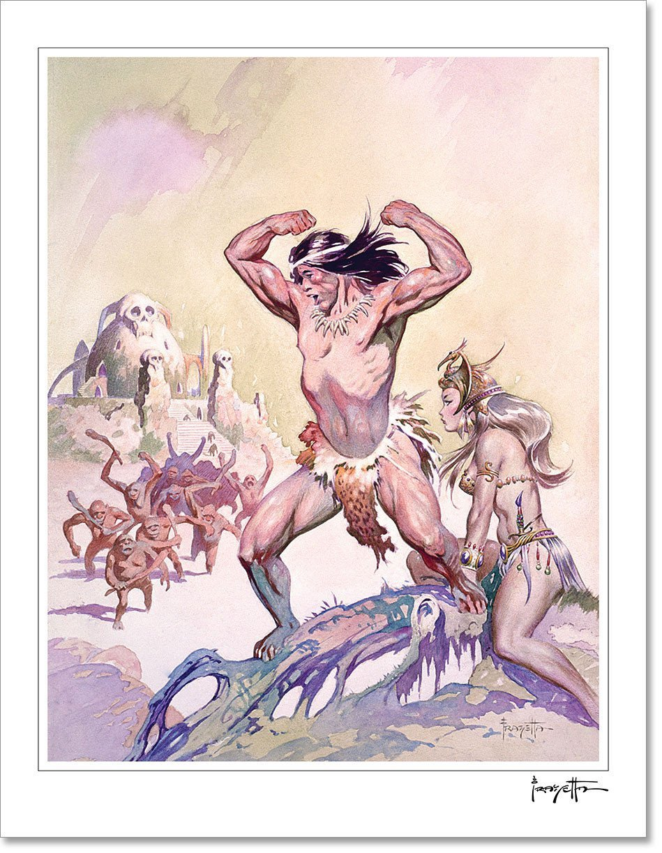 FrazettaGirls Art Print Tarzan #1 Print