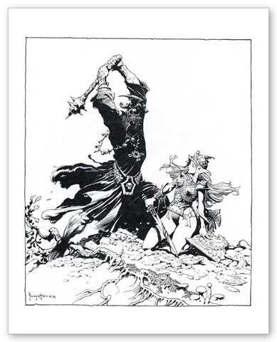 FrazettaGirls Fine art print / 8.5x11 Eowyn vs the Nazgul Lord - Plate 5 Print