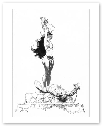 Tarzan and The Princess Print