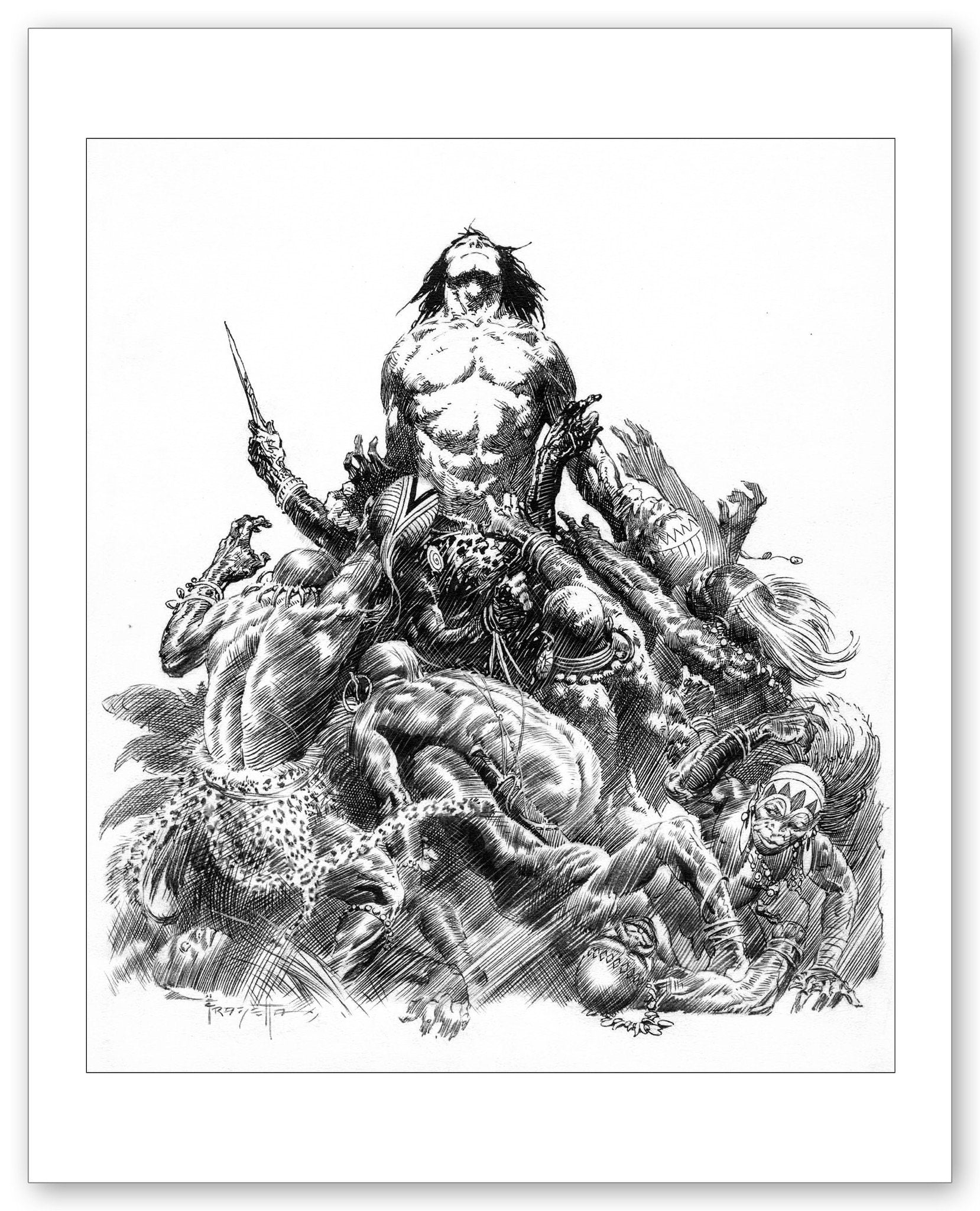 FrazettaGirls Fine art print / 8.5x11 Lord of the Savage Jungle Print