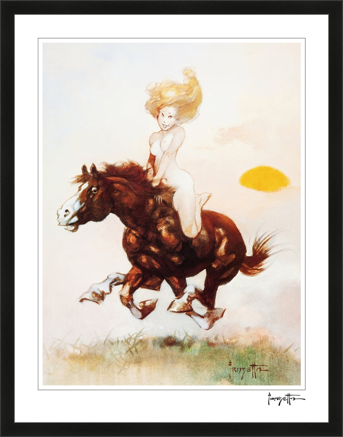 Frazetta Pillow Book- Plate 4- Print