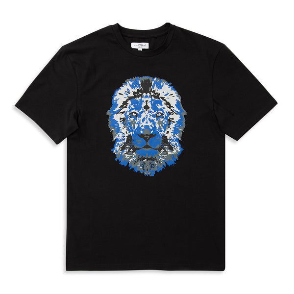 Lion Printed Black T-Shirt | Untitled Atelier