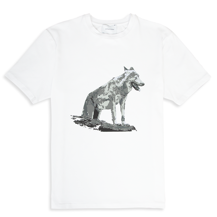Wolf Printed White T-Shirt | Untitled Atelier