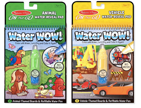 Water Wow Books are great to keep kids entertained!