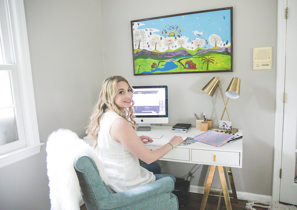 Dani's desk was a splurge, but we absolutely love how it looks!