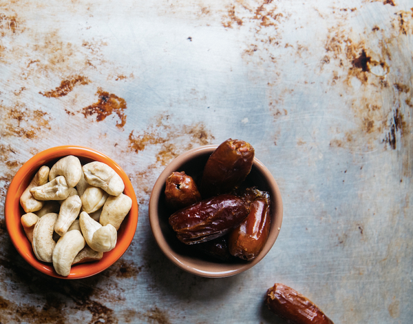 Coconuts, dates, and nuts are our go to delicious snacks for mama while on the go!