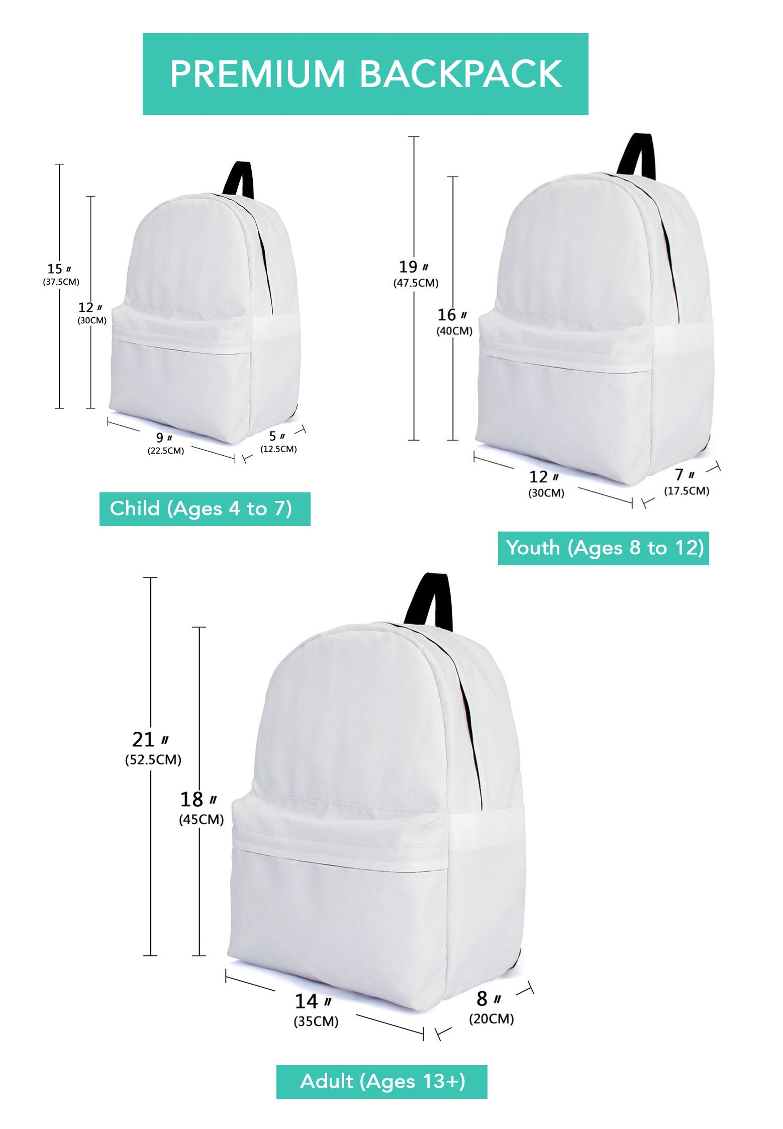 Easy Baby Travelers Backpack Sizing Chart