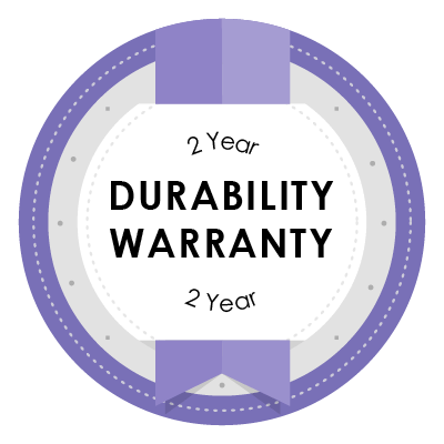 Two year durability & replacement warranty