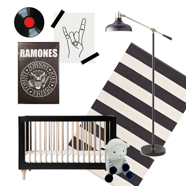 Tunes, style, and Easy Baby Travelers vibes... what more could this kids' room need?