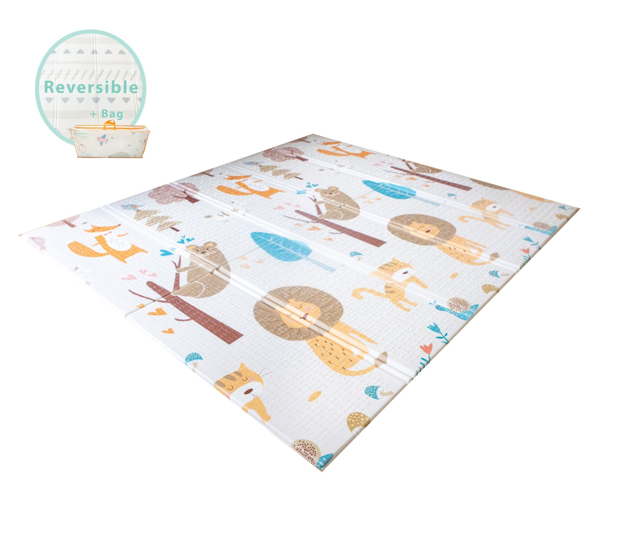 The EZ Baby Foldable, Reversible Kids Play Mat