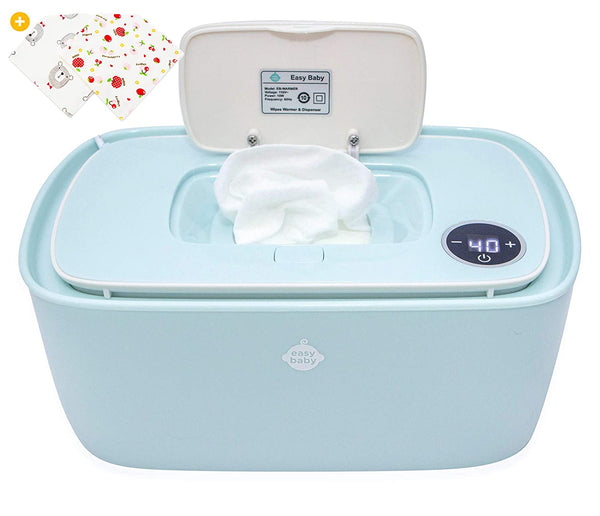 EZ Baby Trendy Wipes Warmer Dispenser Holder - Portable, Plugin, Comfortable Diaper Changing Experience - Infant, Newborn, Baby