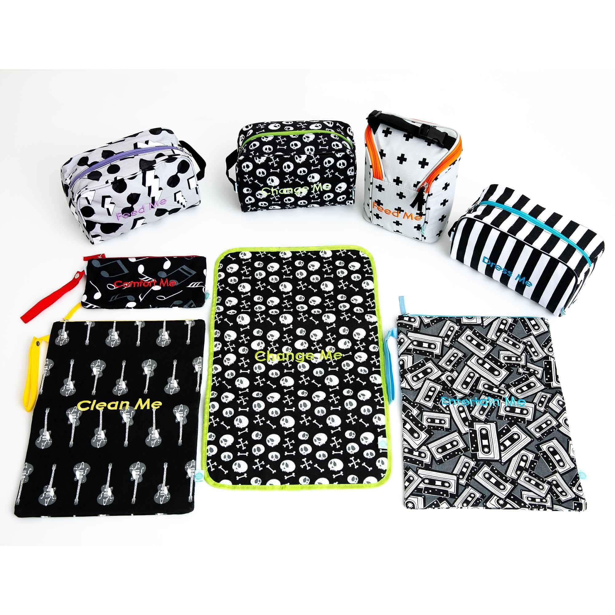Detroit Rock City Easy Baby Travelers Complete Set of 8 - Diaper Bag Organizer Complete Set - Easy Baby Travelers