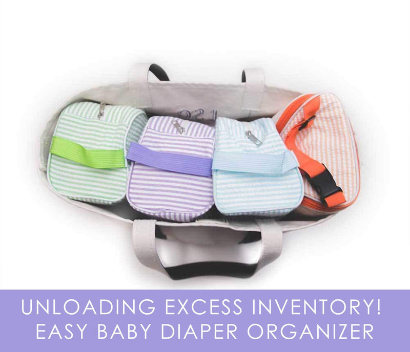 Seersucker Easy Baby Travelers Starter Set of 4