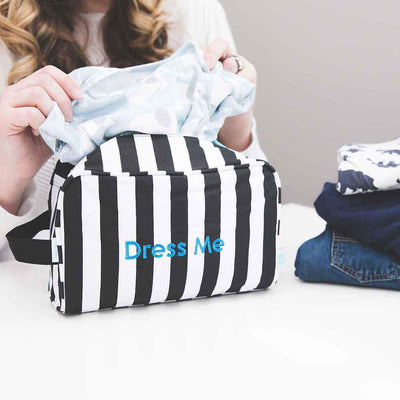 Detroit Rock City Easy Baby Travelers Starter Set of 4 for Diapers, Clothes, Food & Bottles - Diaper Bag Organizer Starter Set - Easy Baby Travelers