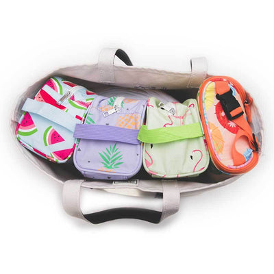 Florida Keys Easy Baby Travelers Starter Set of 4 for Diapers, Clothes, Food & Bottles - Diaper Bag Organizer Starter Set - Easy Baby Travelers