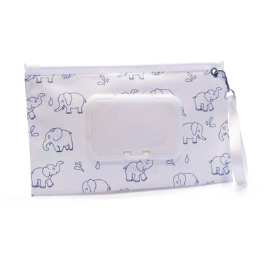 Easy Baby Wipes Case in Elephants Pattern - Diaper Bag Organizer - Easy Baby Travelers