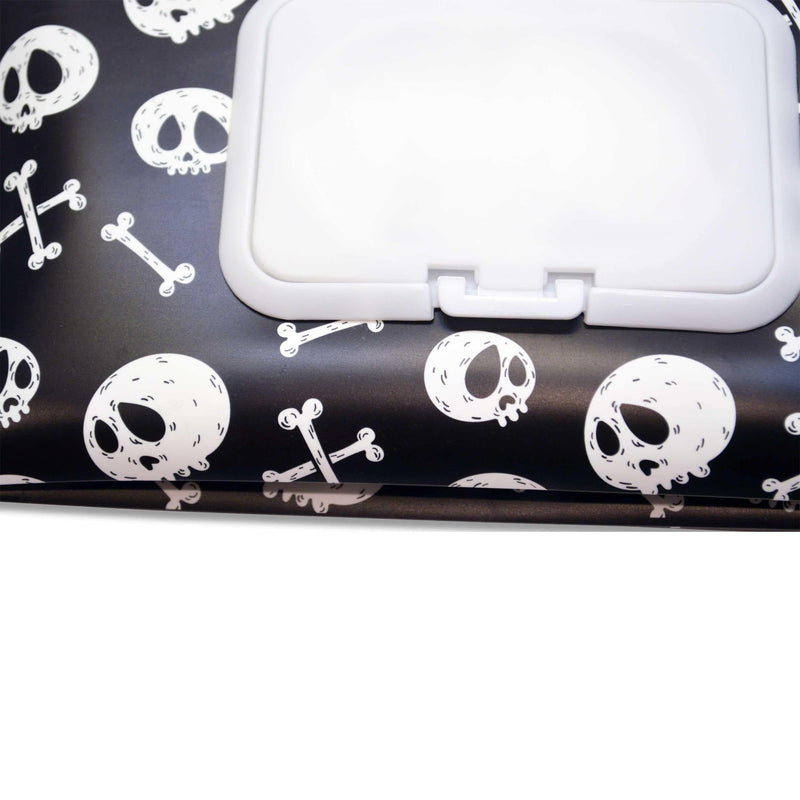 Easy Baby Wipes Case in Skulls Pattern - Diaper Bag Organizer - Easy Baby Travelers