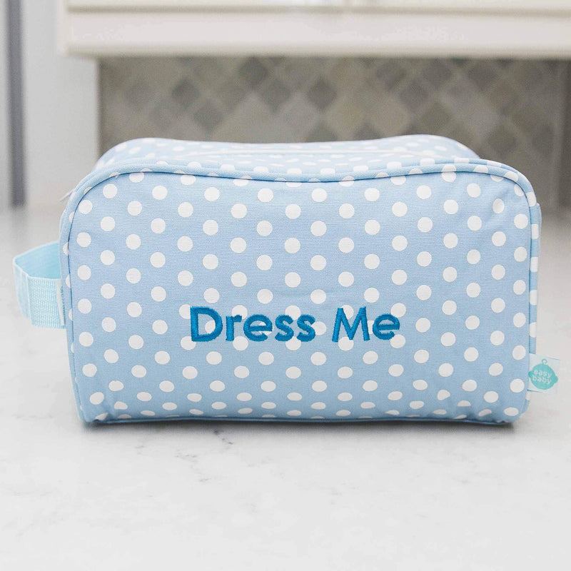 Laguna Beach Polka Dot Easy Baby Travelers Starter Set of 4 for Diapers, Clothes, Food & Bottles - Diaper Bag Organizer Starter Set - Easy Baby Travelers