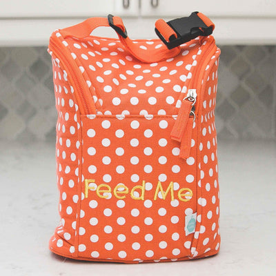 Laguna Beach Polka Dot Easy Baby Travelers Starter Set of 4 for Diapers, Clothes, Food & Bottles