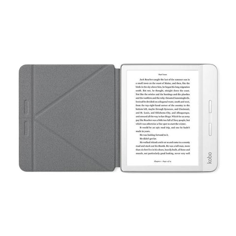 White Kobo Libra H2O with white SleepCover