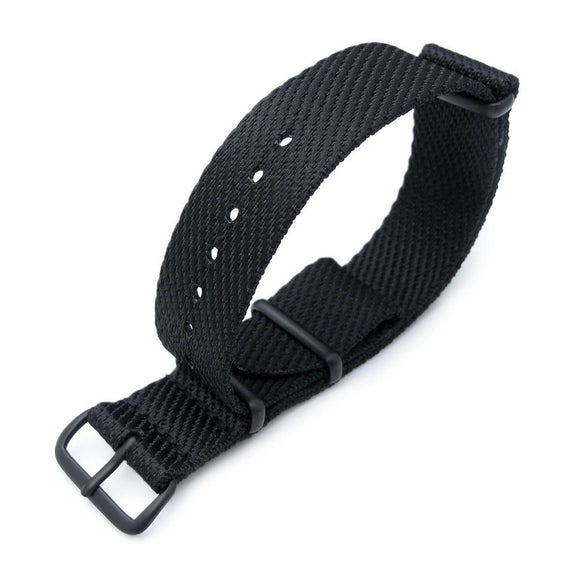 Strapcode N.A.T.O Watch Strap MiLTAT 20mm G10 Military NATO Watch Strap, Waffle Nylon Armband, PVD - White