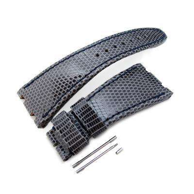 Strapcode Lizard Watch Strap Dark Grey Genuine Lizard Leather Watch Strap