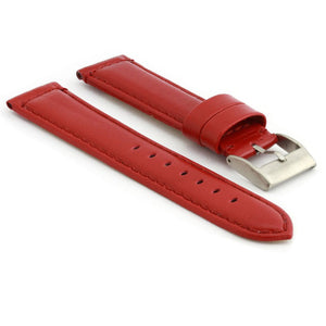 Smooth Padded Leather Watch Strap