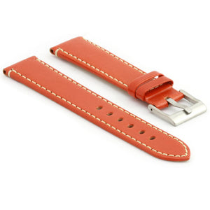 Flat Leather Watch Strap