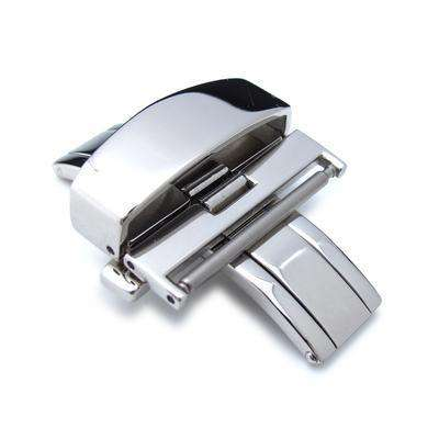 Strapcode Watch Clasp 22mm, 24mm Stainless Steel Double Deployment Buckle / Clasp