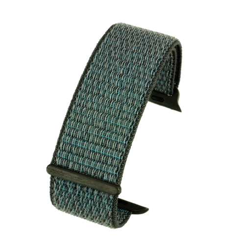 Apple iWatch Watch Strap Dark Grey Hook and Loop Wrap around Fabric 38mm and 42mm