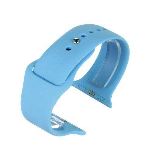 Apple iWatch Watch Strap Blue Silicone Rubber 38mm and 42mm