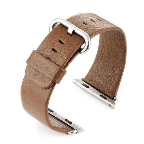 Apple iWatch Watch Strap Brown Leather 38mm and 42mm