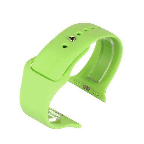 Apple iWatch Watch Strap Green Silicone Rubber 38mm and 42mm