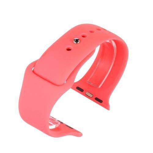 Apple iWatch Watch Strap Pink Silicone Rubber 38mm and 42mm