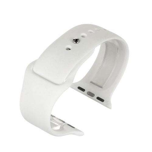 Apple iWatch Watch Strap White Silicone Rubber 38mm and 42mm