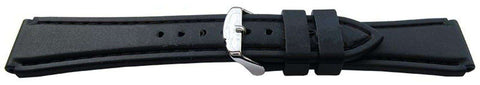 Sports and Leisure Watch Strap Black 20mm with Plastic Buckle Style 3