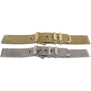 Watch Bracelet Open Mesh with Safety Clasp 12mm-22mm
