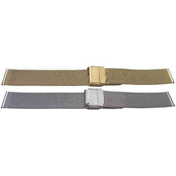 Watch Bracelet Super Fine Mesh 10 to 24mm