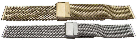 Rowi Watch Bracelet Mesh  Open Safety Clasp  Extra Long (XL)