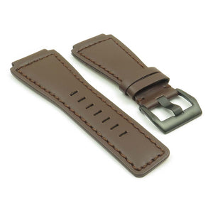 DASSARI Magnum Leather Watch Strap for Bell & Ross with Matte Black Pre-V Buckle
